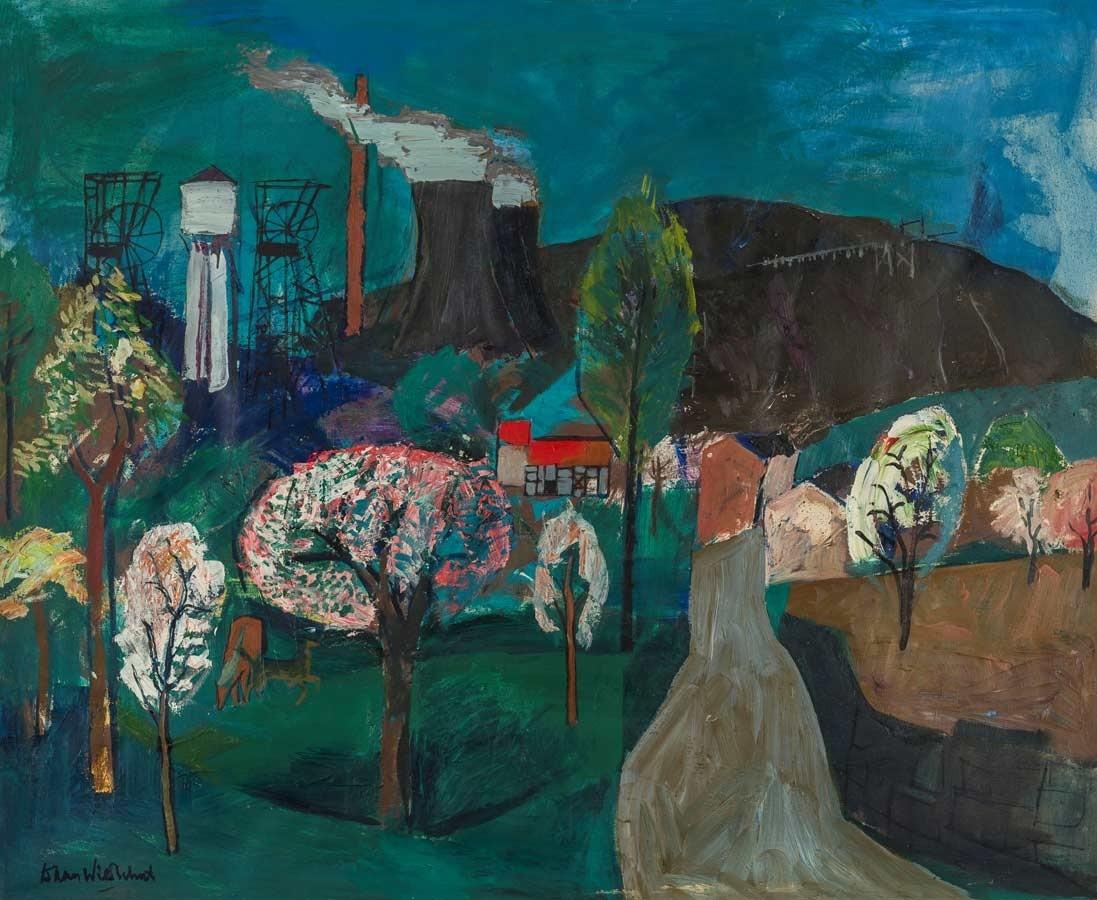 Daan Wildschut, 'Lente', ca. 1962, olieverf op doek, 107 x 130 cm. DSM Art Collection. Foto Etienne van Sloun, Maastricht