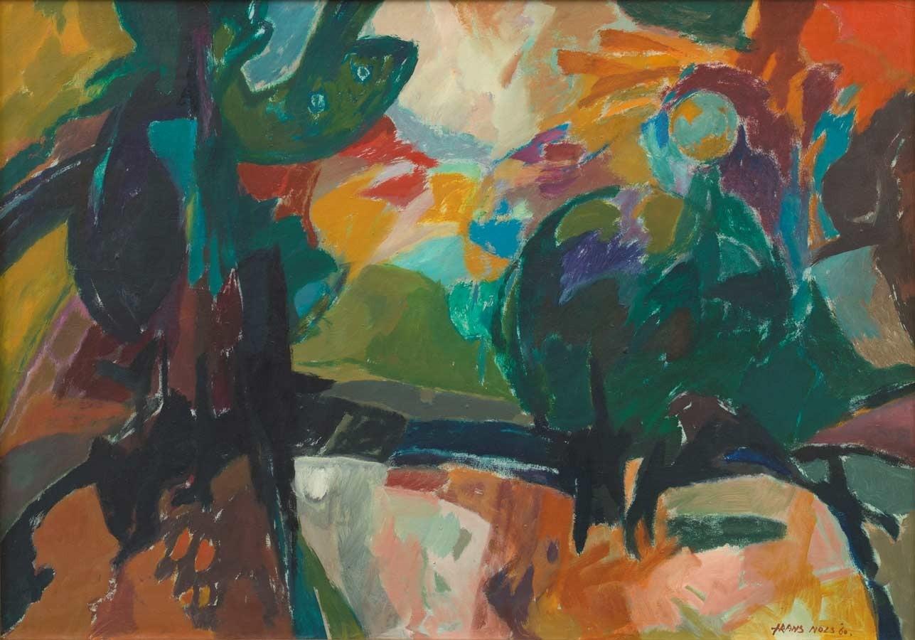 Frans Nols, 'Grote boom', 1960, olieverf op doek, 58 x 83,5 cm. Collectie Schunck, gemeente Heerlen. Foto Peter Cox, Eindhoven